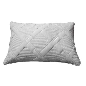 Tache Light Grey Silver Soothing Pastel Cotton Diamond Stitch Pattern Pillow Sham (JHW-862-Sham)