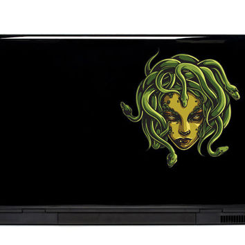 Medusa Vinyl Laptop or Automotive Art FREE SHIPPING decal laptop notebook art sticker ornate detailed monster scary snakes snake head