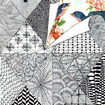 The early bird gets the worm - Zentangle Art - Oringinal