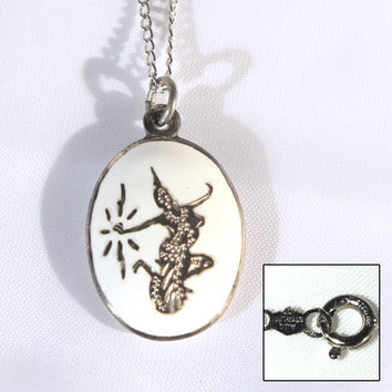 Siam Sterling Petite Pendant Necklace