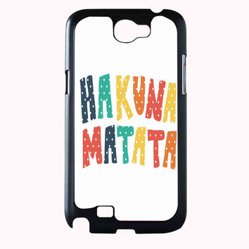 hakuna matata polka FOR SAMSUNG GALAXY NOTE 2 CASE**AP*