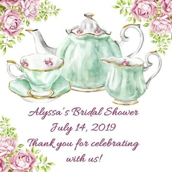 Tea Shower Favor Tags