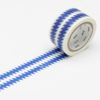 mt x Mint Designs Washi Tape Single Blue Zigzag