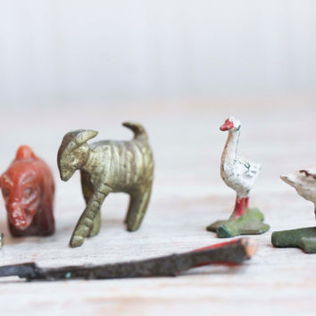 Vintage Miniature Figurines - Lead Farm Animals