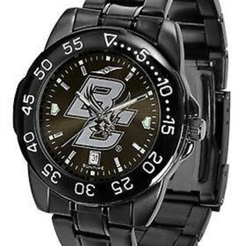 Boston College Eagles Mens Watch Fantom Gunmetal Finish Black Dial