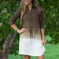 Ombre Dressed For Fall-Brown/Multi