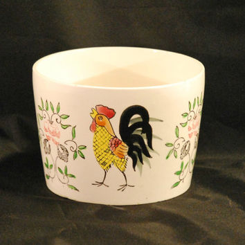 Vintage Maison International Rooster Bowl, Planter (c. pre-1996) Rooster, Chicken Collectible, Vintage Rooster, Made In Japan, Retro