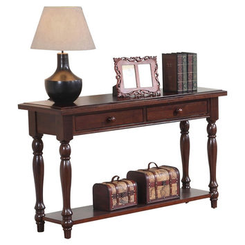 Cherry Solid Hardwood Sofa Table Entryway or Hall Console with 2 Drawers