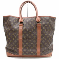 Authentic Louis Vuitton Tote Bag Weekend GM M42420 Browns Monogram 28771