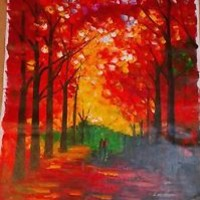 """Farewell To Autumn — Oil Painting On Canvas By Leonid Afremov  Size: 30""""x40"""""""
