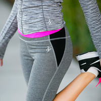 Colorblock Mesh Active Capris