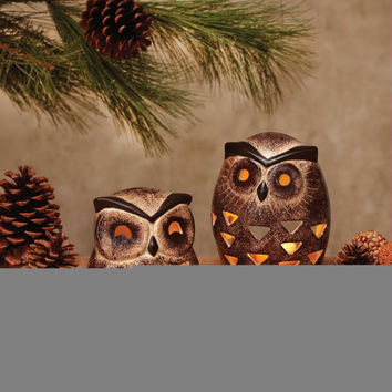 4 Candle Holders - Owl