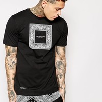 Cayler & Sons Black Label Longline T-Shirt With Bandana Print