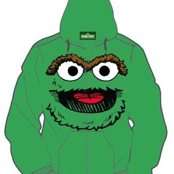Oscar the Grouch Adult Hoodie Sweatershirt Jacket
