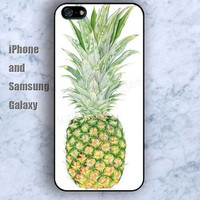 Ripe pineapple iPhone 5/5S case Ipod Silicone plastic Phone cover Waterproof