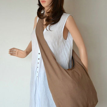 Sepia - Everyday Crossbody Shoulder Sling Bag Diaper Cotton Handbag Purse SL6302