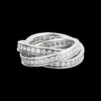 3.14ct Diamond Eternity Rolling Rings Round Diamonds Eternity Ring 18kt White Gold Bridal Anniversary Jewelry Rings BLUERIVER47 Etsy