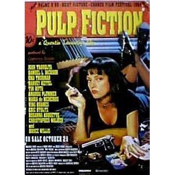NEW PULP FICTION MOVIE POSTER - RARE 24X36 UMA THURMAN