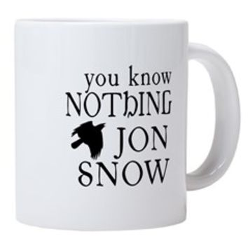 You Know Nothing Jon Snow 20 oz Ceramic Mega Mug> You Know Nothing Jon Snow> Scarebaby Design