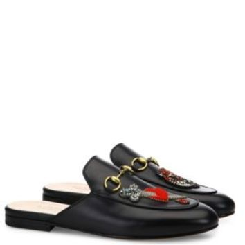 Gucci - Princetown Floral Leather Flat Mules