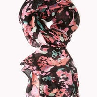 Abstract Floral Woven Scarf