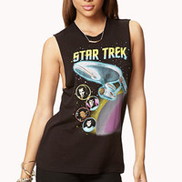 FOREVER 21 Star Trek Muscle Tee Black/Pink