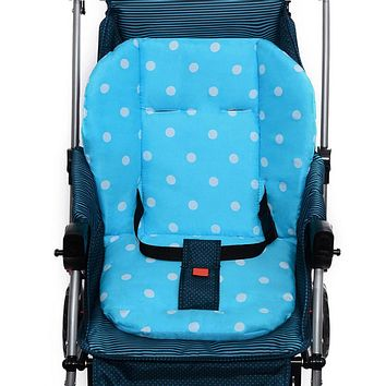 Thick Colorful Baby Infant Stroller Seat Pram Cushion Chair Baby Cart Seat Color Dot Cotton Mat Stroller Mat For Kids