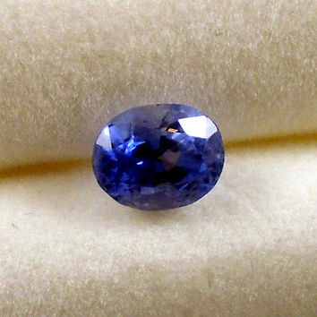 Sapphire: 1.12ct Blue Oval Shape Gemstone, Natural Hand Made Faceted Gem, Loose Precious Corundum Mineral, Cut Crystal Jewelry Supply 20266