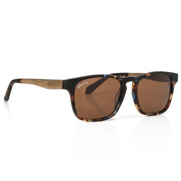 Splinter Zebrawood Stacked Sunglasses