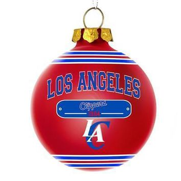 Licensed Los Angeles Clippers 2014 Glass Ball Christmas Ornament L.A. FC KO_19_1