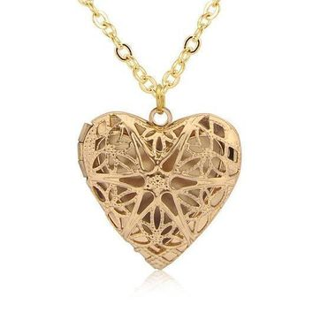 Heart Photo Locket Necklace