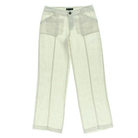 INC Womens Linen Regular Fit Casual Pants