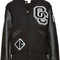Black Logo Varsity Jacket