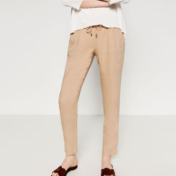 LINEN TROUSERS - View All-TROUSERS-WOMAN | ZARA United Kingdom