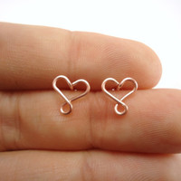 Infinity Hearts Earring Studs, Rose Gold