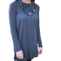 Women's Long Sleeve Casual Spring Round Neck Blouse Sweatshirts