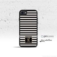 Striped Monogram Case Cover for Apple iPhone iPod Samsung Galaxy S & Note Series