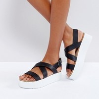 Mango Flatform Sandals With Strap Detail at asos.com