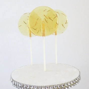 Rosemary Honey Lemonade Gourmet Lollipops - Pick Your Size - Party Favors - Wedding Favors - Lollipop Favors - Luxe Lollies