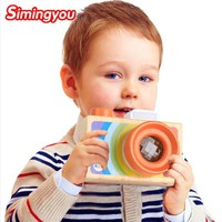 Simingyou Children Wooden Toys Camera Kaleidoscope Magic Education Baby Kids Montessori Learning Toy D10-A-245 Drop Shipping