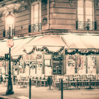 Paris, France Charming Cafe Holidays Fine Art Photography Print