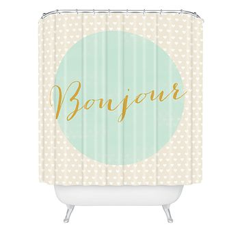 Allyson Johnson French Hello Shower Curtain