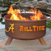 UA University of Alabama Crimson Roll Rolling Tide NCAA Portable Outdoor Grilling Fire Pit