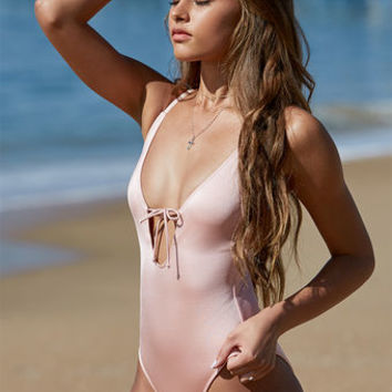 LA Hearts Shine Keyhole One Piece Swimsuit at PacSun.com
