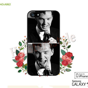 BBC Sherlock Benedict Cumberbatch Phone case iPhone 5/5S/5C Case, iPhone 4/4S Case, S3 S4 S5 Note 2 Note 3 Case for iPhone-A062