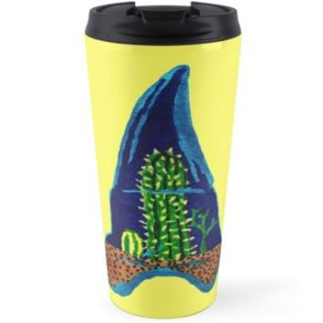 'Shark Tooth Terrarium' Travel Mug by RaLiz