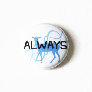 Harry Potter Buttons Geekery Accessories Severus Snape Pins Blue Deer Always Fandom Pinback Buttons One Inch Buttons