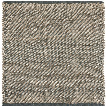 Safavieh Hand-woven Natural Fiber Blue/ Natural Jute Rug (6' Square) | Overstock.com Shopping - The Best Deals on Round/Oval/Square