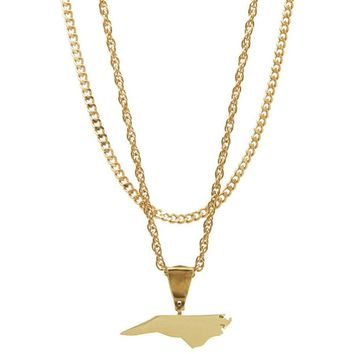 Mister State NC Necklace - Gold