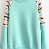 Green Printed Sweatshirt